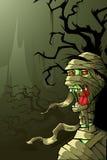 Mummia nella notte di Halloween Fotografia Stock
