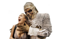 Mummies and young woman Royalty Free Stock Image