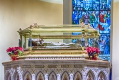 The mummified body of Saint Ubaldo, patron of Gubbio, Italy Stock Photo