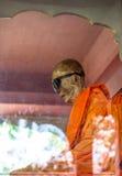 Mummified monk body, Koh Samui island. Thailand royalty free stock photo