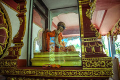 Mummified monk body on Koh Samui Thailand Stock Images