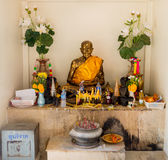The mummified monk at the buddhist temple of Samui island  Royalty Free Stock Image