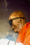 Mummified monk Stock Photo