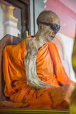 Mummified monk in Koh Samui - Thailand Royalty Free Stock Images