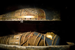 Mummy. At the Alexandria Museum in Egypt stock image