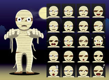 Mummy Cartoon Emotion faces Vector Illustration Stock Photo