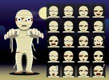 Mummy Cartoon Emotion faces Vector Illustration Stock Photo