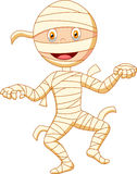 Mummy cartoon walking Royalty Free Stock Photo