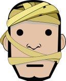 Mummy Character head. An illustration of a mummy Stock Photo