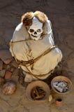 Mummy at Chauchilla Cemetery - Nazca Peru Royalty Free Stock Image