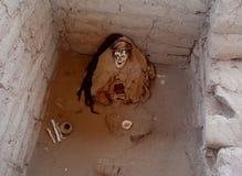 A mummy in Chauchilla Cemetery Stock Photos