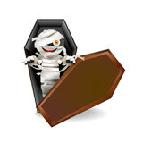 Mummy in coffin Stock Image