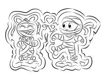 Mummy Coloring Page for Kids Stock Photo