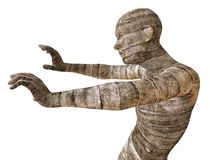 Mummy 3D Illustration. 3D Illustration Of A Mummy Isolated on White Stock Image