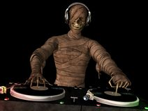 Mummy DJ Royalty Free Stock Photo