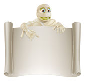 Mummy Halloween Banner Scroll Stock Images