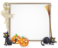 Mummy Halloween Banner Sign Stock Photos