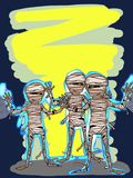 Mummy halloween characters illustration drawing royalty free illustration