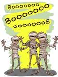 Mummy halloween characters illustration drawing vector illustration