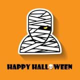 mummy halloween icon vector illustration