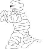 Mummy illustration with bandages unravelling Stock Photography