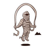 Mummy jumping rope. Vector illustration Royalty Free Stock Photos