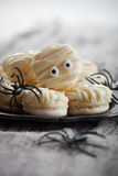 Mummy macaroons for Halloween Royalty Free Stock Images