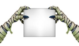 Mummy Monster Holding blank Sign Stock Photography