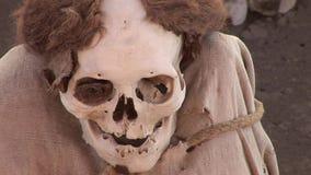 Mummy in Peru stock video footage