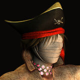 Mummy pirate. 3d rendering of a mummy with a pirate hat as illustration Stock Photos