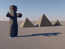 Mummy and pyramids Royalty Free Stock Images