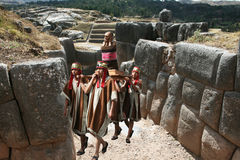 Mummy in saqsaywaman Royalty Free Stock Photos