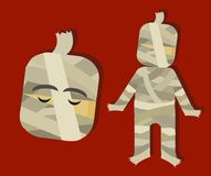 Mummy scary horror character for kids for halloween vector illustration