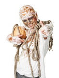 The mummy is thumbup in the studio Royalty Free Stock Image