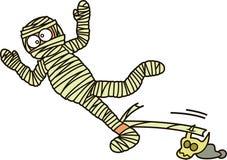 Mummy Zombie Falling Down Cartoon Illustration Royalty Free Stock Images