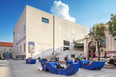 Mumok博物馆现代Kunst -现代艺术博物馆在维也纳,奥地利。 库存照片