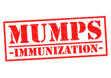 MUMPS IMMUNIZATION. Red Rubber Stamp over a white background Royalty Free Stock Photography