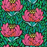 Mums flower seamless pattern Royalty Free Stock Image