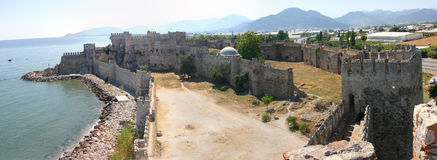 Mumure Castle panorama Royalty Free Stock Photography