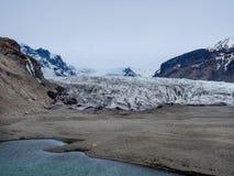 Mun av den Skaftafell glaciären Arkivbilder