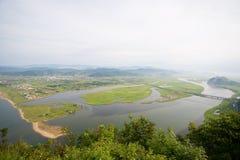 Mun av floden Arkivfoton