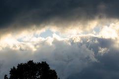 Mun av himmel Royaltyfria Bilder