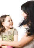 Mun e figlia felici Fotografia Stock