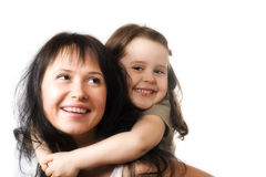 Mun e figlia felici Fotografie Stock Libere da Diritti