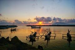 Muncar rybołówstwa port fotografia stock