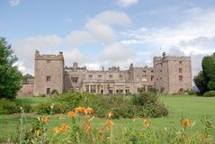 Muncaster Castle. In Cumbria England royalty free stock images