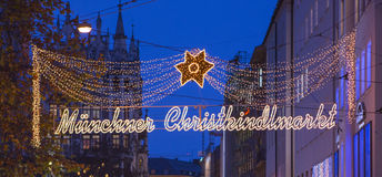 Munchen Christkindlmarkt. Germany, 2 December 2012 Stock Image