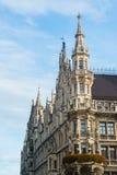 Munchen New Town Hall  Marienplatz. Munchen New Town Hall in Marienplatz Stock Photos