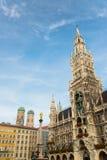 Munchen New Town Hall  Marienplatz. Munchen New Town Hall in Marienplatz Royalty Free Stock Photo