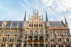 Munchen New Town Hall  Marienplatz. Munchen New Town Hall in Marienplatz Stock Photography